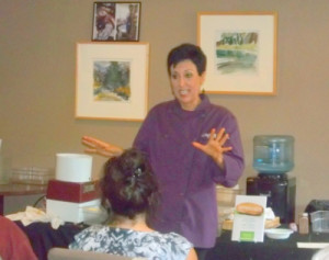 Chef Aj's boundless energy inspired us with 10 recipes in her Unprocessed cooking demo - every one of them a winner.