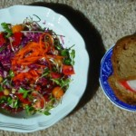 Today's lunch:  Color, crunch, and credit to Colleen Patrick-Goudreau