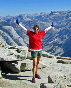 Triumph at the top of Half Dome