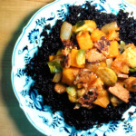 Black rice magic with butternut squash curry and tempeh