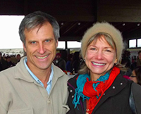 With Gene Baur, co-founder of Farm Sanctuary