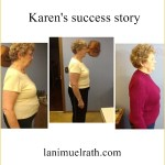 Karen's story:  down 20 pounds, 2 sizes, up in hope and enthusiasm
