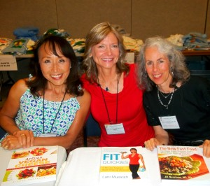With the talented and industrious Miyoko Schinner and Jill Nussinow at our book signing