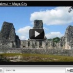 Fitness on the road:  Outdoor girl adventure in Maya ruins, Yucatan, Mexico (video)