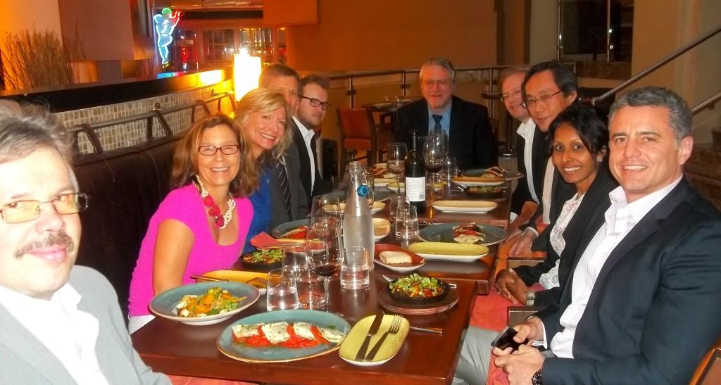 The Speaker's Dinner!  With Dr. Neal Barnard, Brenda Davis, Dr. Frank Hu, Dr. Garth Davis, Dr. Chris Boesch, and Dr. Michael Roden